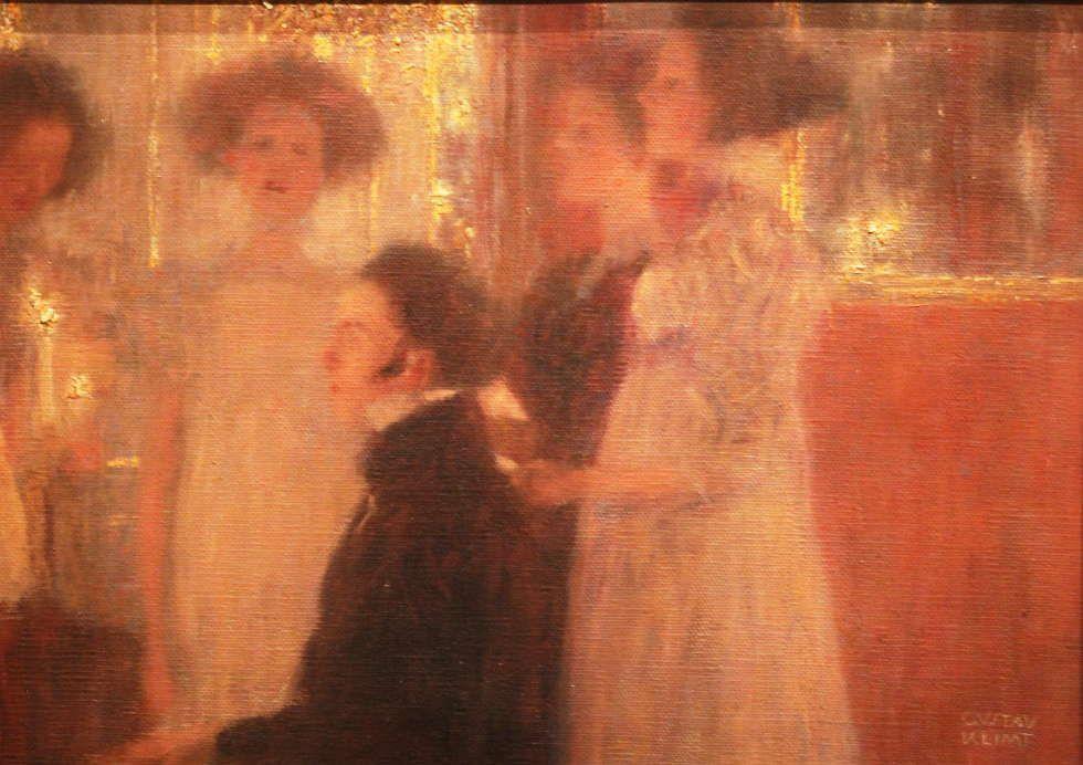 Gustav Klimt, Schubert am Klavier (Entwurf), Detail, 1896/97, Öl auf Leinwand, 30 × 39 cm (Privatbesitz, Österreich), Foto: Alexandra Matzner, ARTinWORDS