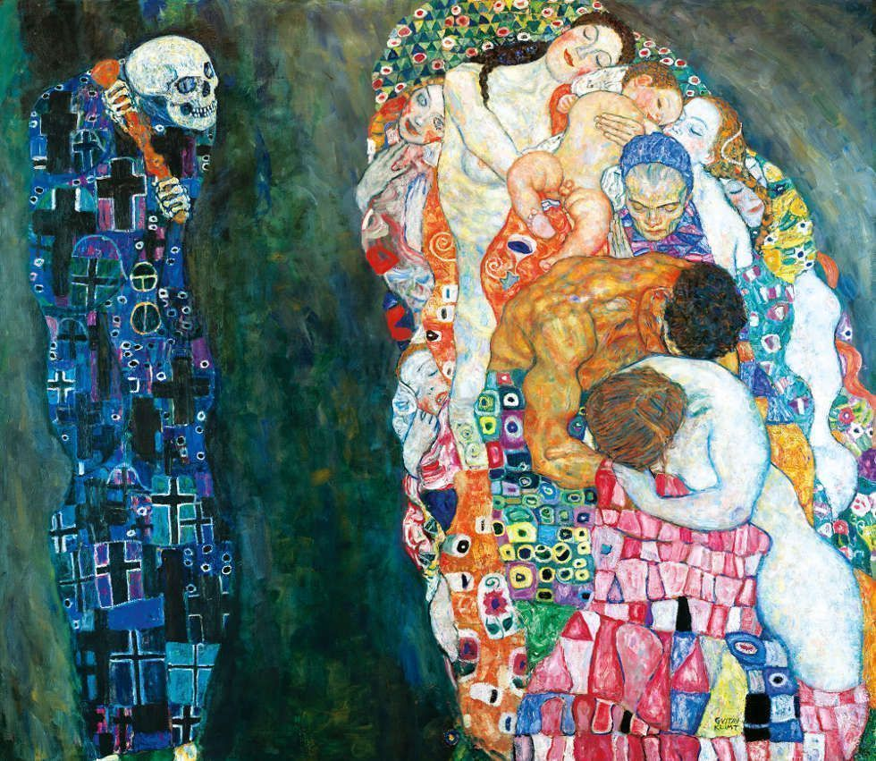 Gustav Klimt, Tod und Leben, 1910/11, umgearbeitet 1915/16 (© Leopold Museum, Wien, Inv. 630)