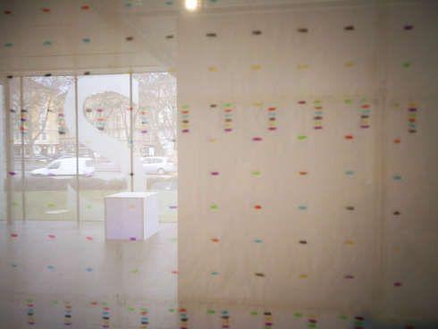 Guy Mees, Untitled, Detail, 1970, Buntstift auf Papier, 120 x 136 cm in der Ausstellung Das Wetter ist ruhig, kühl und mild in der Kunsthalle Wien Karlsplatz, Foto: Alexandra Matzner, ARTinWORDS.