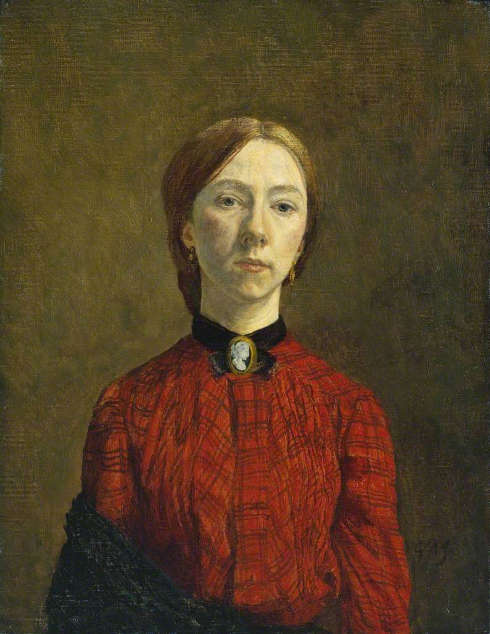 Gwen John, Selbstporträt, 1902, Öl auf Leinwand, 44.8 x 34.9 cm (Tate, London)