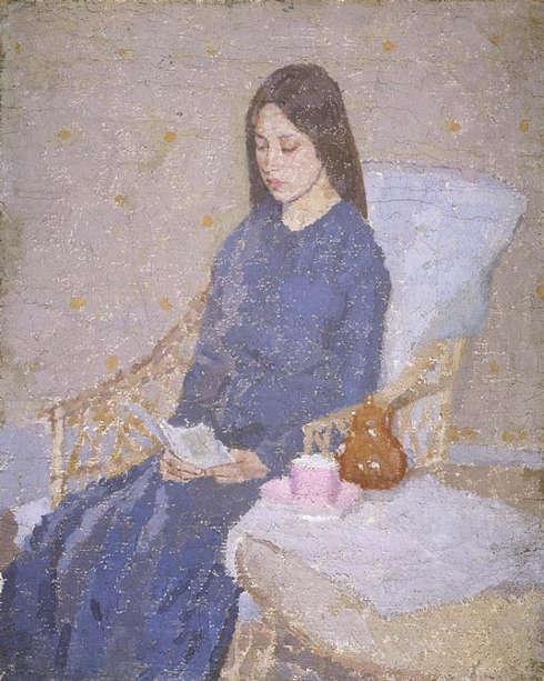 Gwen John, The Convalescent, 1923/24, Öl auf Leinwand (Fitzwilliam Museum, Cambridge)