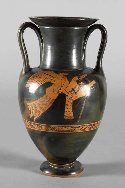Halsamphore des Providence-Malers, Attisch, rotfigurig, um 480 v.u.Z. (Kunsthistorisches Museum, Wien, Antikensammlung, © KHM-Museumsverband)