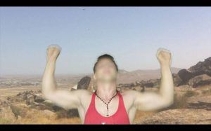 Hannah Black, Bodybuilding (4), 2015, Digitales Video, Farbe, Ton, 8:10 Min., in Auftrag gegeben von Yarat Contemporary Art Centre, Baku.