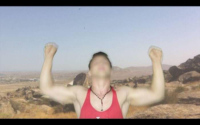 Hannah Black, Bodybuilding (4), 2015, Digitales Video, Farbe, Ton, 8:10 Min., in Auftrag gegeben von Yarat Contemporary Art Centre, Baku.