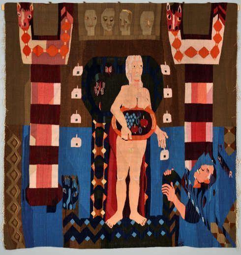 Hannah Ryggen, Livet glir forbi (Das Leben gleitet vorbei), 1939, 190 x 185 cm (Privatsammlung, Norwegen © VG Bild-Kunst, Bonn 2019, Foto: Jørn Hagen)