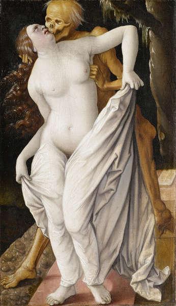 Hans Baldung Grien, Der Tod und die Frau, um 1520/25 (Kunstmuseum Basel)