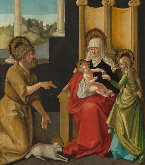 Hans Baldung Grien, Die Hl. Anna mit dem Christusknaben der Hl. Jungfrau und dem Hl. Johannes dem Täufer, um 1511 (Washington, National Gallery of Art, Samuel H. Kress Collection, 1961.9.62, © Washington, National Gallery of Art)