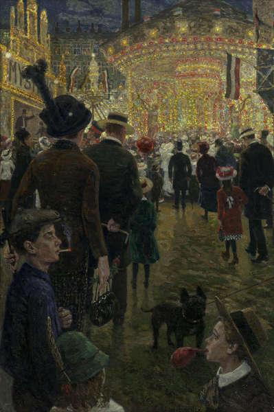 Hans Baluschek, Berliner Rummelplatz, 1914, Öl auf Leinwand (© Bröhan-Museum, Berlin, Foto: Martin Adam, Berlin)