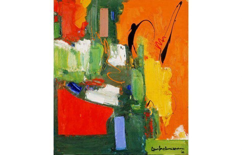 Hans Hofmann, The Lark, um 1960, Öl auf Leinwand (University of California, Berkeley Art Museum und Pacific Film Archive, (c) JPMorgan Chase Bank, N.A., and Patricia Gallagher, Trustees of the Renate, Hans and Maria Hofmann Trust)