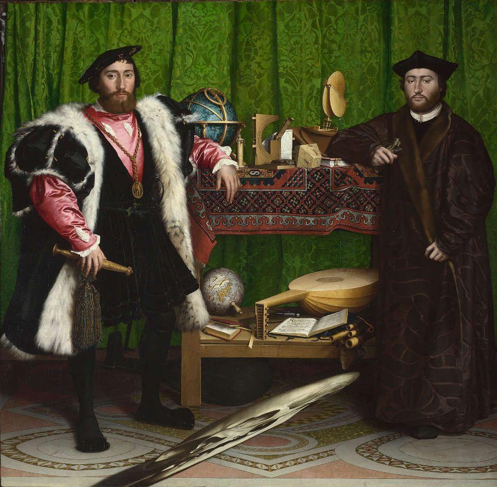 Hans Holbein der Jüngere, Jean de Dinteville und Georges de Selve (Die Diplomaten), 1533 (© National Gallery, London)