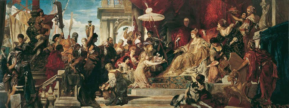 Hans Makart, Venedig huldigt Caterina Cornaro, 1872–1873 (Belvedere, Wien)