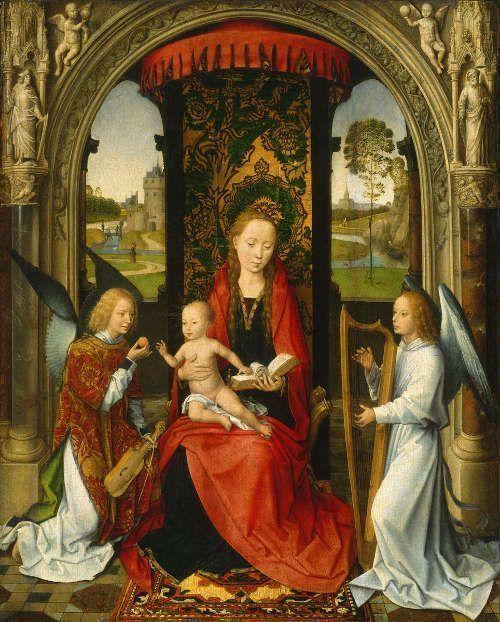 Madonna mit Kind und Engeln, nach 1479, Öl auf Holz, 57.6 x 46.4 cm (National Gallery of Art, Washington)