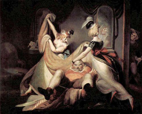 Heinrich Füssli, Falstaff im Wäschekorb, 1792, Öl auf Leinwand, 137 x 170 cm (Kunsthaus Zürich, Inv. 2541)
