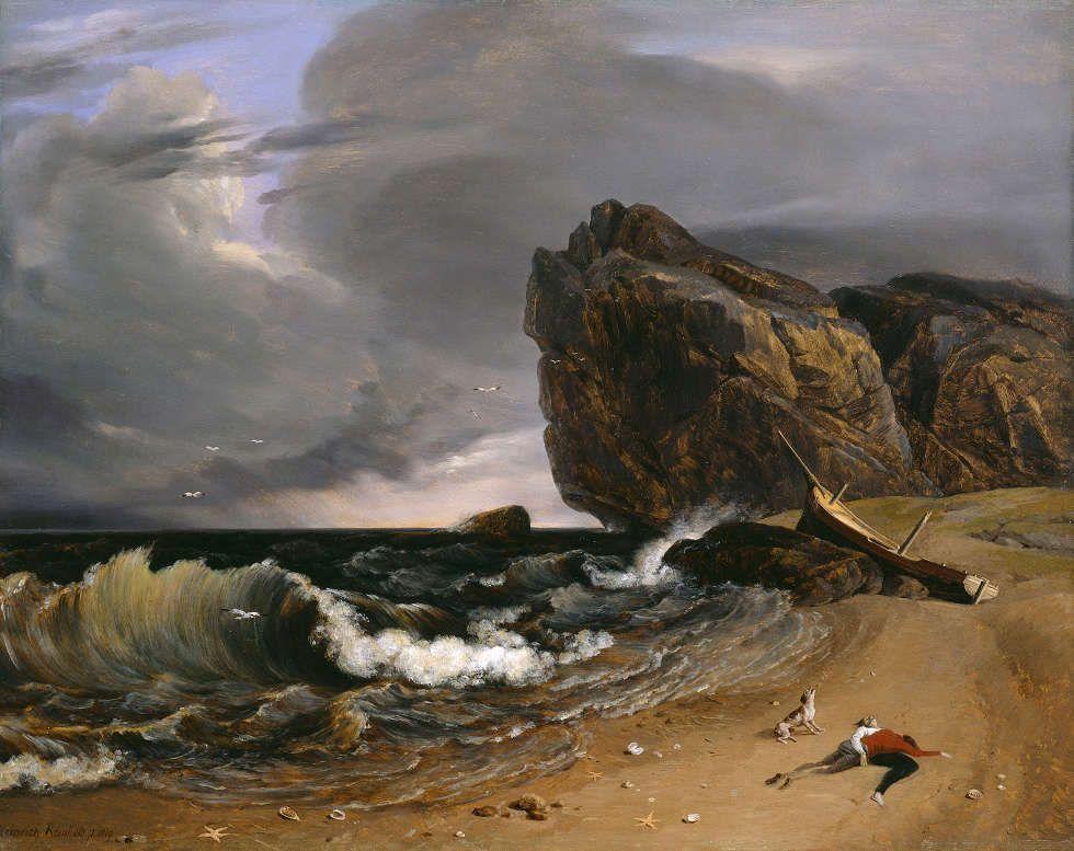 Heinrich Reinhold, Nach dem Sturm, 1819, Öl auf Holz, 33 x 41 cm (© Hamburger Kunsthalle / bpk, Foto: Elke Walford)