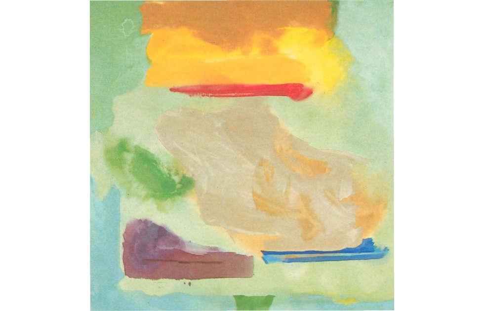 Helen Frankenthaler, Spring Bank, Februar 1974, Acryl/Leinwand, 273,5 x 269,5 cm (Centre Pompidou, Paris)
