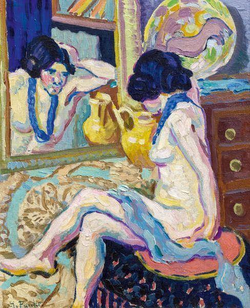 Helene Funke, Akt in den Spiegel blickend (Foto: Johannes Stoll, © Belvedere, Wien)