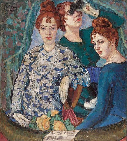 Helene Funke, In der Loge, 1904/07, Öl/Lw, 99 x 90 cm (Lentos Kunstmuseum Linz)
