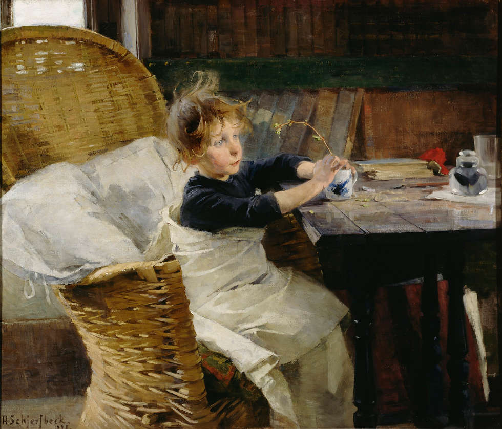 Helene Schjerfbeck, Genesende, 1888, Öl/Lw (Herman and Elisabeth Hallonblad Collection. Finnish National Gallery / Ateneum Art Museum; photo: Finnish National Gallery / Yehia Eweis)