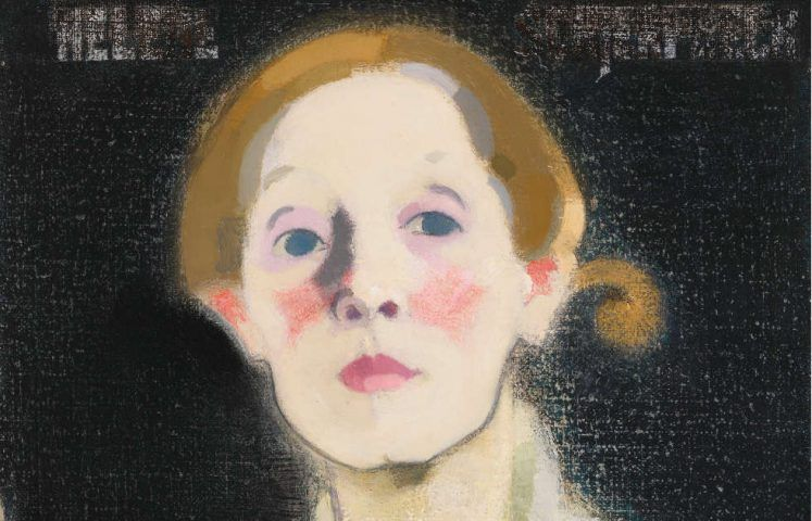 Helene Schjerfbeck, Selbestporträt, schwarzer Hintergrund, Detail, 1919 (Finnish National Gallery/Ateneum Art Museum, The Hallonblad Collection. Photo: Finnish National Gallery/Hannu Aaltonen)