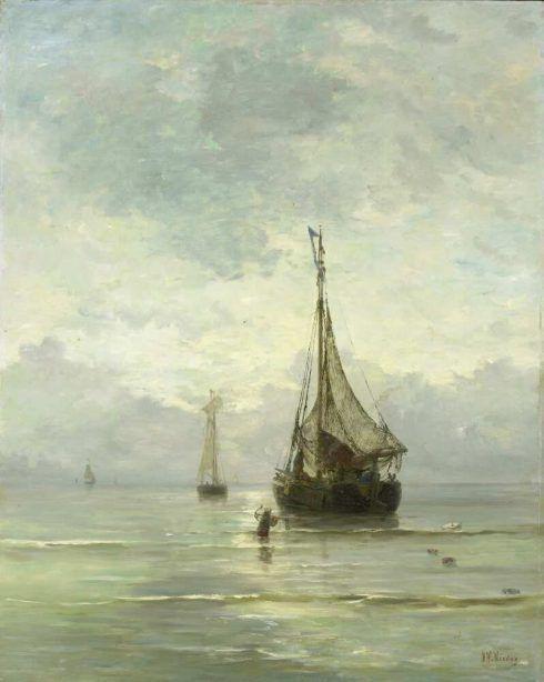 Hendrik Willem Mesdag, Kalme zee [Ruhige See], 1860–1900, Öl auf Leinwand, 123,4 × 97,5 cm (Rijksmuseum, Amsterdam)