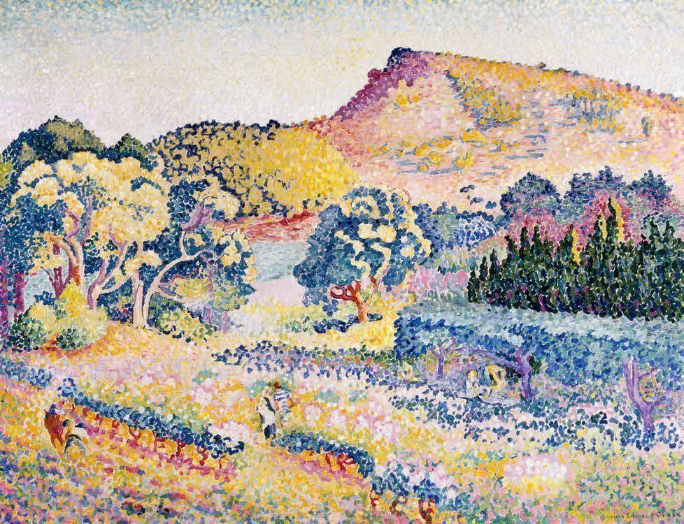 Henri-Edmond Cross, Landschaft mit dem Cap Nègre, Juni-November 1906, Öl-Lw, 90,3 x 116,9 cm (Privatsammlung)