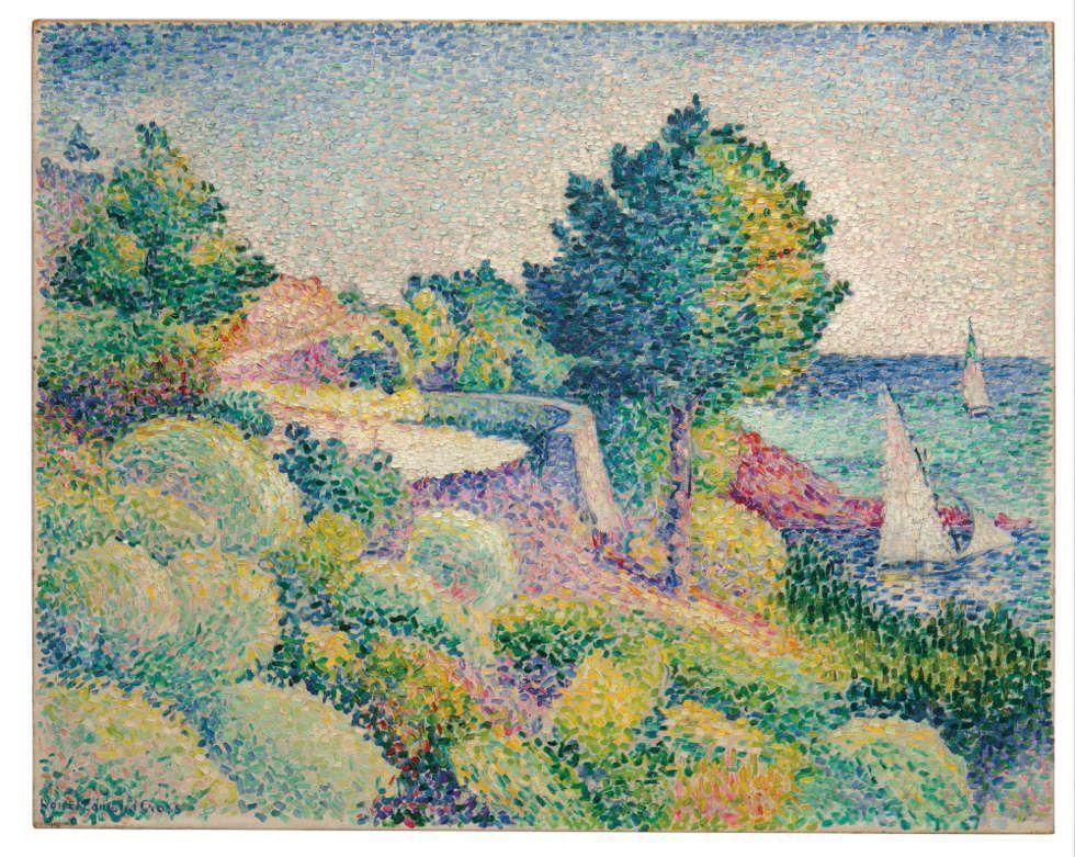 Henri-Edmond Cross, Route du Lavandou vers Saint-Clair, 1895/96, Öl/Lw, 73 x 92.2 cm (Privatsammlung)