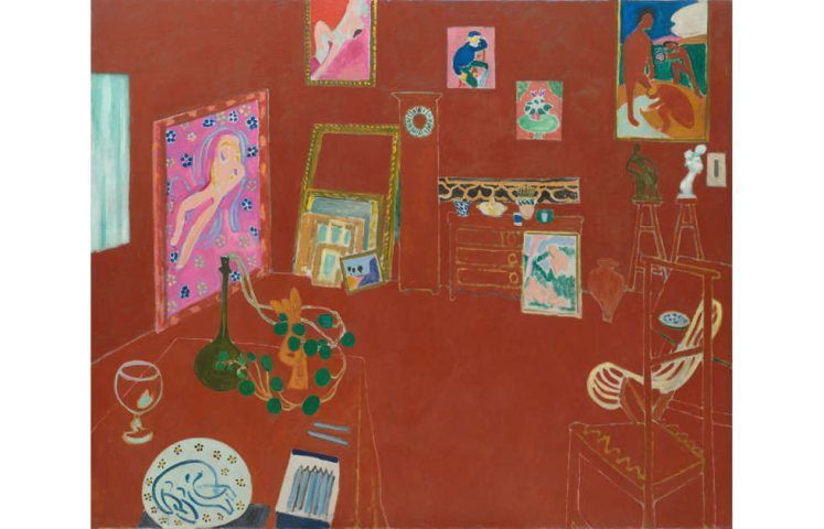 Henri Matisse, Das rote Atelier, 1910 (MoMA, New York)