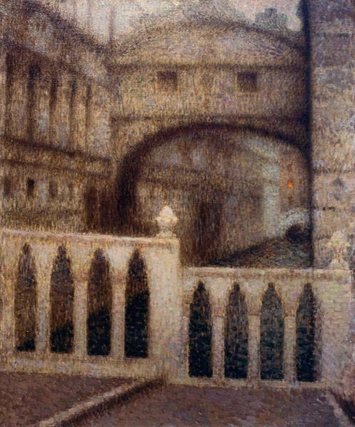 Henri Le Sidaner (1862–1939), Die Seufzerbrücke (Le Pont des Soupirs), 1906, Öl auf Leinwand, 89 x 75 cm (Petit Palais, Musée des Beaux-Arts de la Ville de Paris, Inv.-Nr. PPP 450)