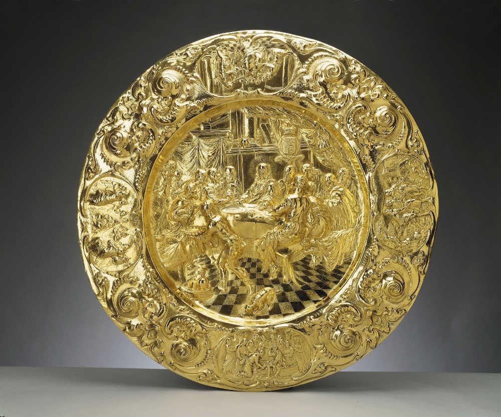 Henry Greenway, Alms dish [Prunkteller], um 1660/61, vergoldetes Silber, 8 x 94,8 cm (Durchmesser) (Royal Collection Trust/© Her Majesty Queen Elizabeth II 2017)