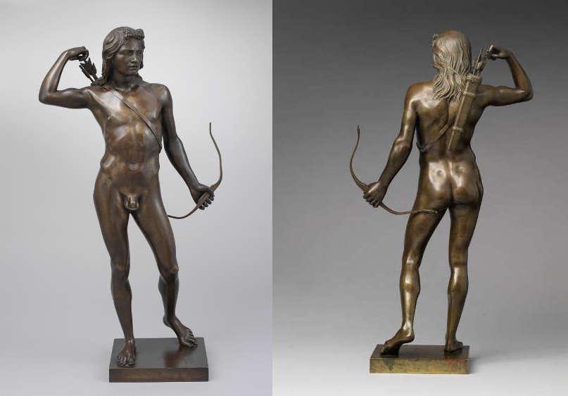 Henry Kirke Brown, Choosing of the Arrow [Die Wahl des Pfeils], 1849, Bronze, 55.9 x 28.9 x 14.3 cm (The Metropolitan Museum, New York, Mia R. Taradash and Dorothy Schwartz Gifts, and Morris K. Jesup and Rogers Funds, 2005, Inv.-Nr. 2005.405)