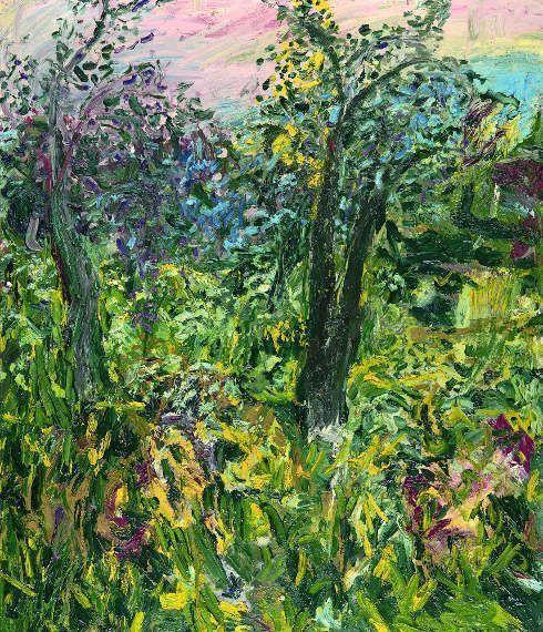 Herbert Brandl, Ohne Titel, 1982, Öl/ Lw, 100 × 85 cm (Neue Galerie am Universalmuseum Joanneum, Foto Neue Galerie Graz Universalmuseum Joanneum, N. Lackner/UMJ)