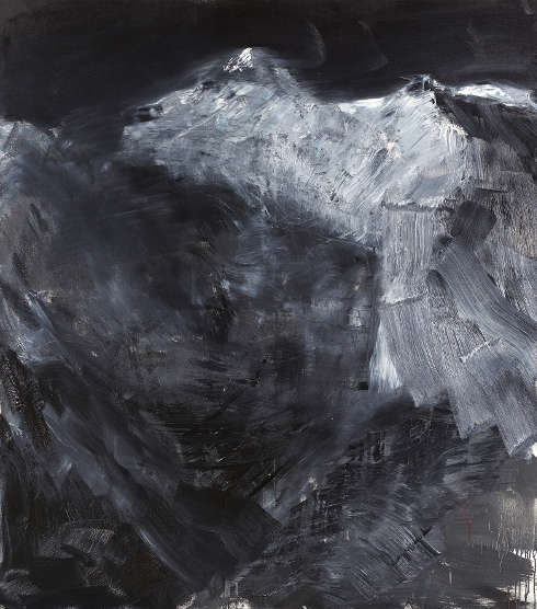 Herbert Brandl, Ohne Titel, 2002, Öl auf Leinwand, 170 x 150 cm (Schenkung Sammlung Ploner, Foto: Johannes Stoll, © Belvedere, Wien)