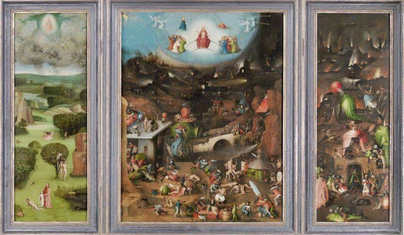Hieronymus Bosch, Weltgerichts-Triptychon, um 1490–um 1505, Öltempera auf Eiche © Gemäldegalerie der Akademie der bildenden Künste Wien