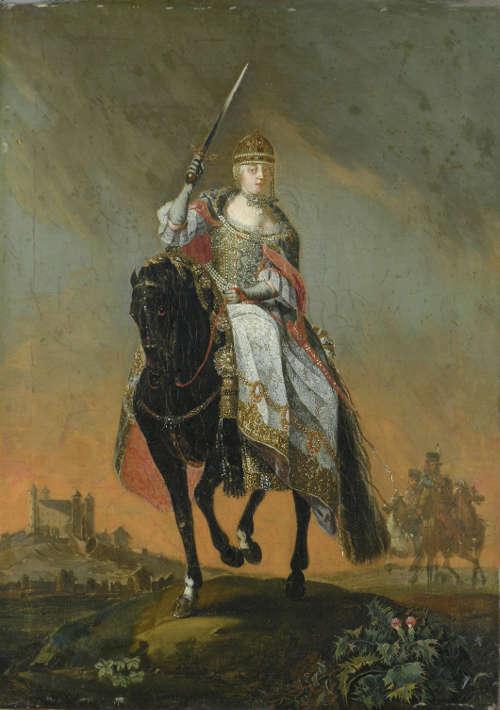 C. Hirsch d.J., Der Krönungsritt Maria Theresias in Pressburg, 1747, Öl auf Leinwand, 45,5 x 33 cm © Galéria mesta Bratislavy