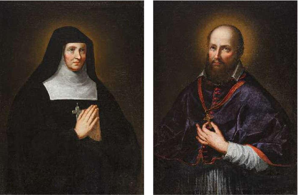 Hl. Franziska von Chantel und hl Franz von Sales