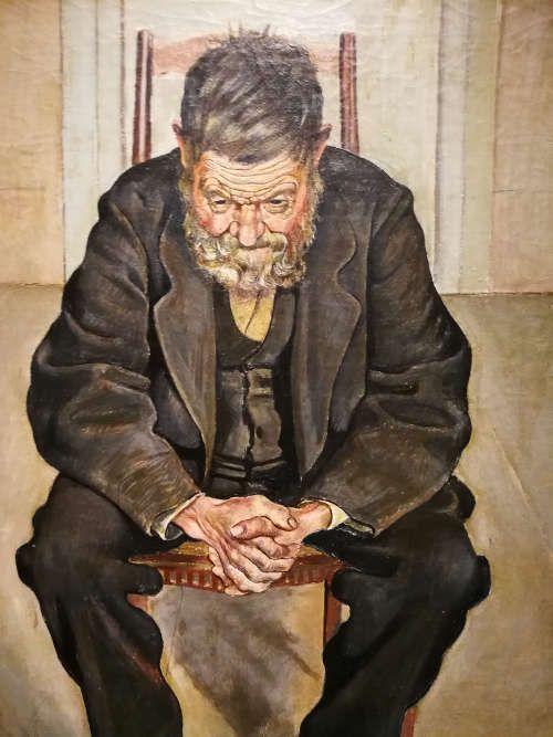 Ferdinand Hodler, Bildnis eines Unbekannten (Sinnender Greis), Detail, um 1887 (Musée des arts et sciences, Sainte-Croix, Schweiz), Foto: Alexandra Matzner, ARTinWORDS