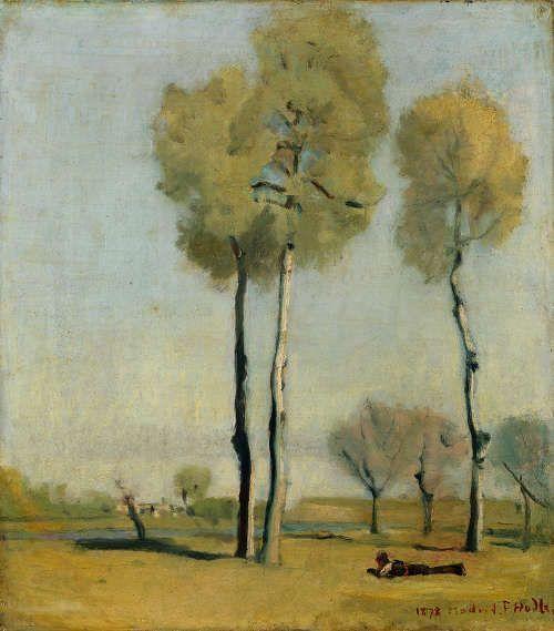 Ferdinand Hodler, Landschaft bei Madrid, 1878 (© Privatsammlung Schweiz)