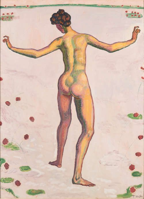 Ferdinand Hodler, Linienherrlichkeit, um 1909, Öl auf Leinwand, 121,5 x 88,5 cm (Kunstmuseum St. Gallen, Foto: S. Stadler)