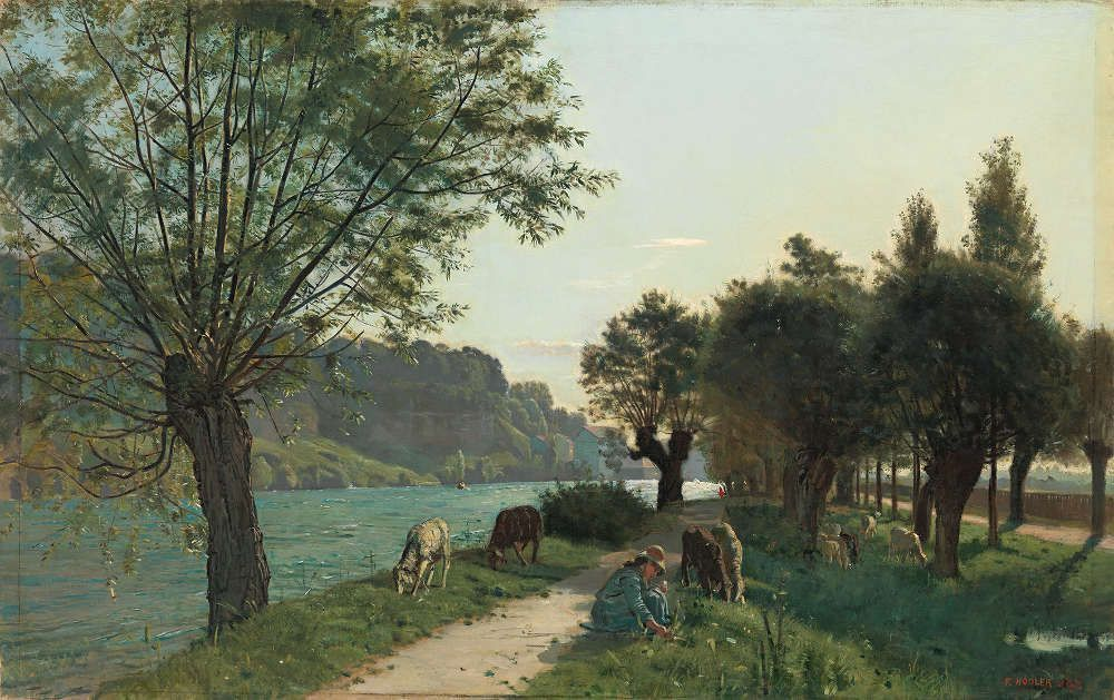 Ferdinand Hodler, Schafe am Sentier des Seules, 1878, Öl/Lw, 97 × 135 cm (Privatbesitz, © SIK-ISEA, Zürich (Philipp Hitz)