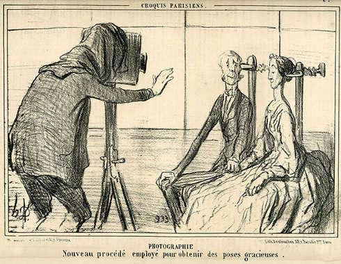 Honoré Daumier, Nouveau Procédé [Neues Verfahren], Karikatur in: Le Charivari, 1856, Lithografie (Private Sammlung © Collection H. G.)