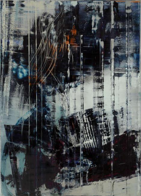 Hubert Scheibl, Cage Painting, 2012, Öl auf Leinwand, Foto: pixelstorm © Hubert Scheibl