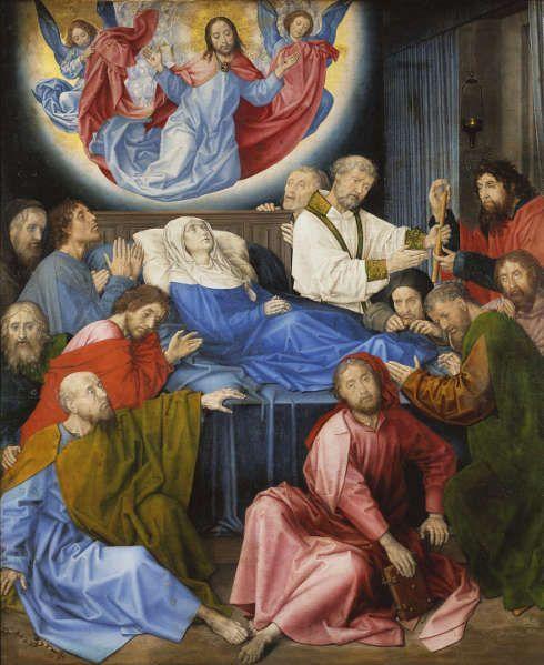 Hugo van der Goes, Marientod, um 1470 (Groeningemuseum, Brügge)