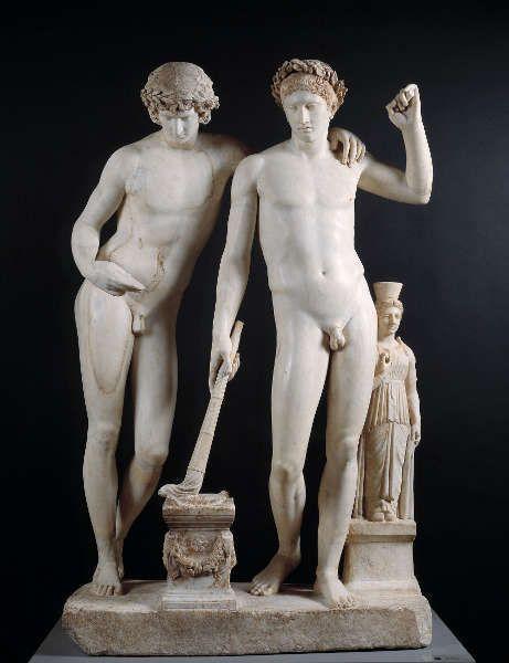 Ildefonso-Gruppe, um 10 v. Chr., Marmor, 161 x 233 x 56 cm (Madrid, Museo Nacional del Prado)