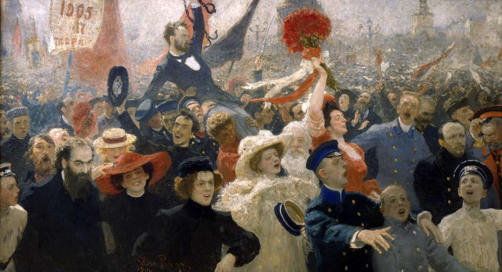 Ilja Repin, Der 17. Oktober 1905, 1907, überarbeitet 1911, Öl/Lw (© Tretjakow-Galerie, Moskau)
