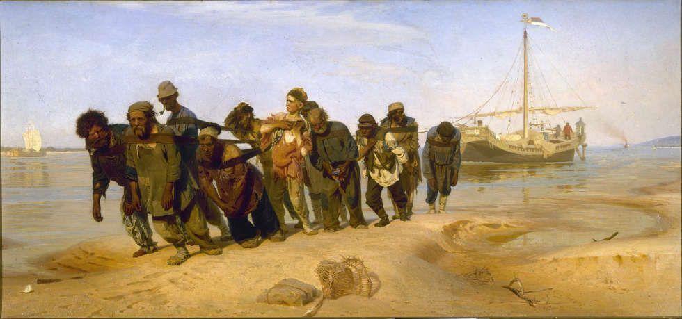 Ilja Repin, Die Wolgatreidler, 1870–1873 (Staatliches Russisches Museum, St. Petersburg)