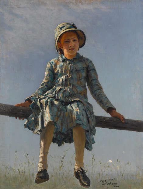 Ilja Repin, Libelle, 1884, Öl/Lw (© Tretjakow-Galerie, Moskau)