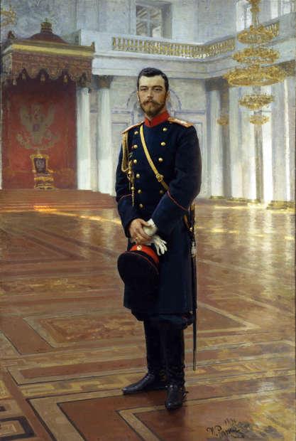 Ilja Repin, Porträt von Zar Nikolaus II, 1896, Öl/Lw (© Russisches Museum, St. Petersburg)
