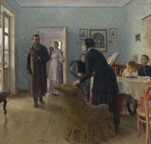 Ilja Repin, Sie haben ihn nicht mehr erwartet, 1884–1888, Öl/Lw (© Tretjakow-Galerie, Moskau)
