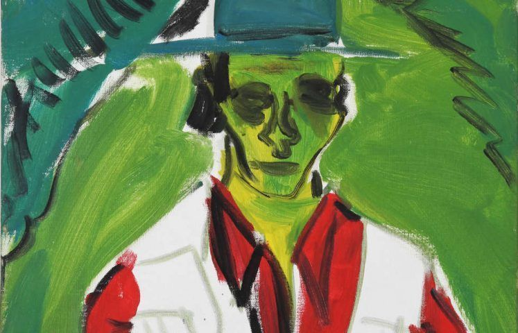 Jörg Immendorff, Mona Schwana, Detail, 1965, Dispersion auf Leinwand, 60 x 50 cm, Museum Schloss Moyland, msm 29004 (© The Estate of Jörg Immendorff, courtesy Galerie Michael Werner Märkisch Wilmersdorf, Köln & New York, Foto: Maurice Dorren, Stiftung Museum Schloss Moyland)