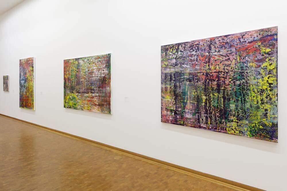 Installationsansicht Gerhard Richter. Neue Bilder Museum Ludwig Köln, 2017 Foto: Rheinisches Bildarchiv Köln/ Britta Schlier